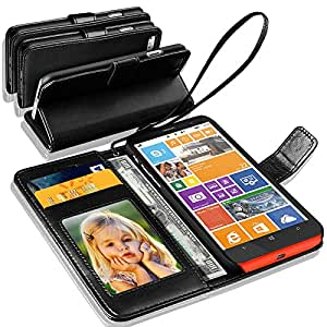 NOKIA LUMIA 640 Rich Leather Stand Wallet Flip Case Cover Book Pouch / Quality Slip Pouch / Soft Phone Bag (Specially Manufactured - Premium Quality) Antique Leather Case Black