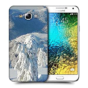 Snoogg Snow Trees Printed Protective Phone Back Case Cover ForSamsung Galaxy E7