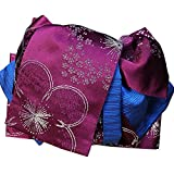 浴衣作り帯夏あそび紫ゆかた結び帯前帯リバーシブル小袋帯両面半巾帯