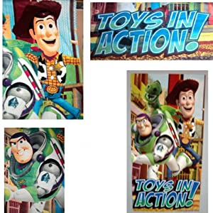 DISNEY TOY STORY TOWEL BEACH TOWEL BATH TOWEL COTTON OVERSIZED 30 X 60 REX WOODY THE SHERIFF BUZZ LIGHTYEAR TOYS IN ACTION
