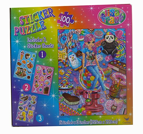 "Lisa Frank 100 Piece Cherri Sticker Puzzle, 14 x 11"", Includes 3 Sticker Sheets - 1"