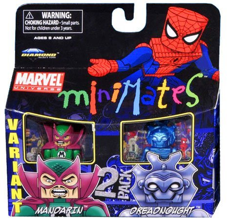 Picture of Art Asylum Marvel Minimates Series 36 Mini Figure 2Pack Mandarin Dreadnought Variant (B003TP3O2E) (Marvel Action Figures)