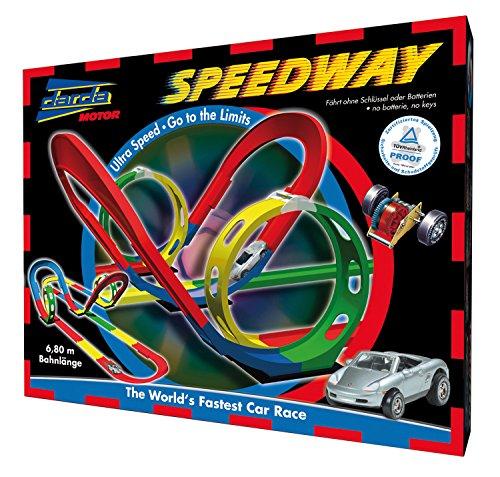 Darda 50105 - Rennbahn Speedway, inklusive silbernem Porsche Boxster, 680 cm Streckenlänge