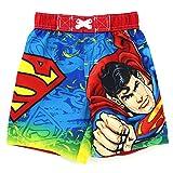 Superman Toddler Red Swim Trunks Swimwear