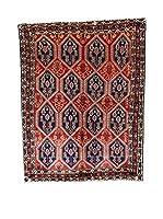 L'EDEN DEL TAPPETO Alfombra Afshari Rojo/Azul Oscuro 158 x 200 cm