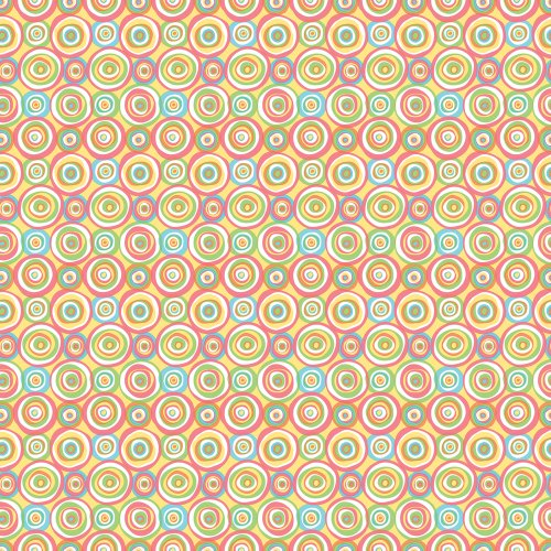 Imperial Disney Home DF059623 Funky Circles Wallpaper, Pastel, 20.5-Inch Wide