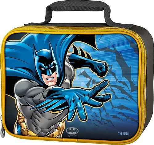 Thermos Batman Boy's Soft Lunch Kit - Black with Yellow Trim - 1