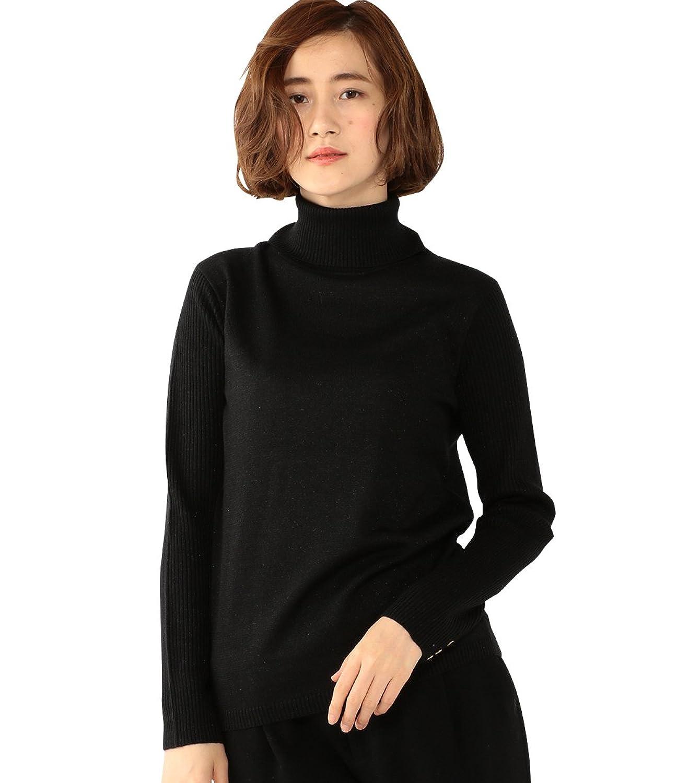 (エーシーデザインバイアルファキュービック)A/C DESIGN BY ALPHA CUBIC ラメリブタートルニットプルオーバー : 服&ファッション小物通販 | Amazon.co.jp