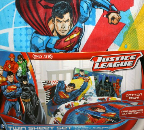 Justice League Twin Sheet Set