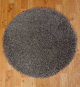 Shaggy Rug 963 Plain 5cm Floor Carpet Thick Soft Pile Modern Stylish 100% Berclon Twist Fibre Non-Shed Polyproylene Heat Set - AVAILABLE IN 7 SIZES by Quality Linen and Towels (120cm (4ft), Dark Grey) by Quality Linen and Towels