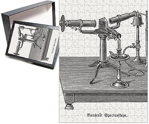 Photo-Jigsaw-Puzzle-of-Spectroscope-c-1860-by-Bunsen-and-Kirchhoff-published-in-1880