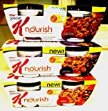 Kellogg's Special K Nourish Hot Cereal VARIETY PACK: Includes 1-2 Pack of MAPLE BROWN SUGAR CRUNCH; 1-2 Pack of CINNAMON RAISIN PECAN & 2 Pack of CRANBERRY ALMOND. A Total of 6 DELICIOUS Microwaveable Bowls.