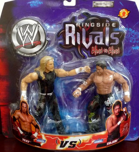 Buy Low Price Jakks Pacific Test vs. Tajiri WWE Ringside Rivals Head to Head Toy Figures (B004WX2KHC)