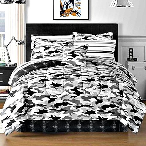 Grey Camouflage Bedding