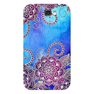 EYP Girly Floral Pattern Back Cover Case for Samsung Note 2
