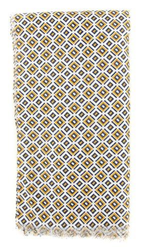 new-cesare-attolini-yellow-cotton-blend-scarf