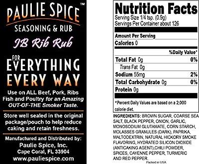 Paulie Spice : Sweet and Smokey BBQ Rib Rub and Honey BBQ Seasoning Combo Set (2 Flavors) : Amazing on Ribs, Pork, Wings, Chicken, Prime Rib, Steak and Seafood : 8 oz