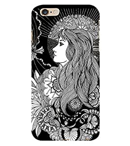 Fiobs Beautifull Art Lady Art Tatto Phone Back Case Cover for Apple iPhone 6