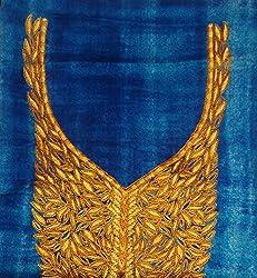 Dev Women's Cotton Unstitched Kurti (Dev-04_Blue_Free Size)