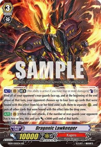 Cardfight!! Vanguard Tcg - Dragonic Lawkeeper (Eb09/005En) - Extra Booster Pack 9: Divine Dragon Progression front-680685