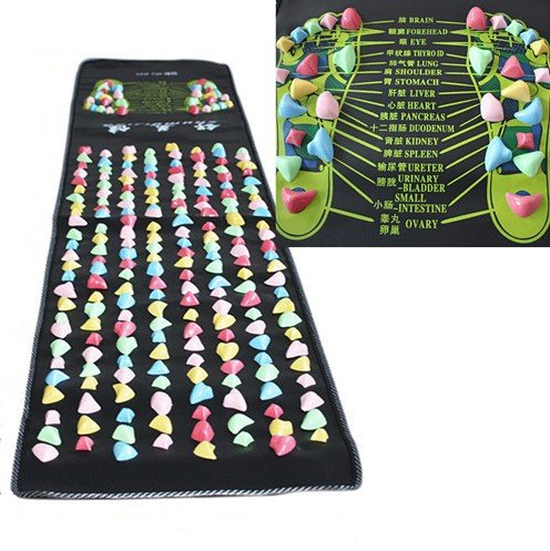 ZJchao Reflexology Walk Stone Foot Massage Mat (1.7m x0.35m)