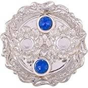 German Silver Plated Pooja Plate Pooja Thali Pooja Articles Dealer Silver Wilver Silver Plated Roli Chawal Blue...