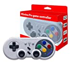 JFUNE Wireless Pro Game Controller Gamepad for Nintendo Switch, PC Video Games & Android Device (Color: Old School Style)