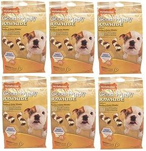 Nylabone Enhanced Rawhide Puppy Braid Chicken 180ct 2.5