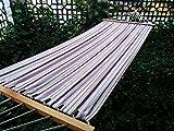 Hangit 11'FT cotton fabric outdoor hammocks for garden - Multicolor stripe