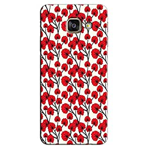 RED FLOWERS BACK COVER FOR SAMSUNG A9