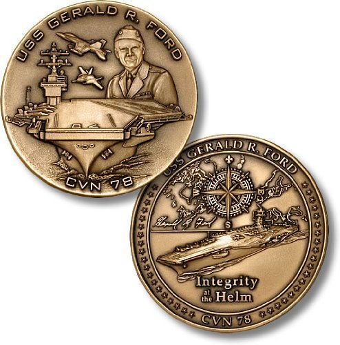 USS Gerald R. Ford, CVN-78 Challenge Coin (Uss Ford compare prices)