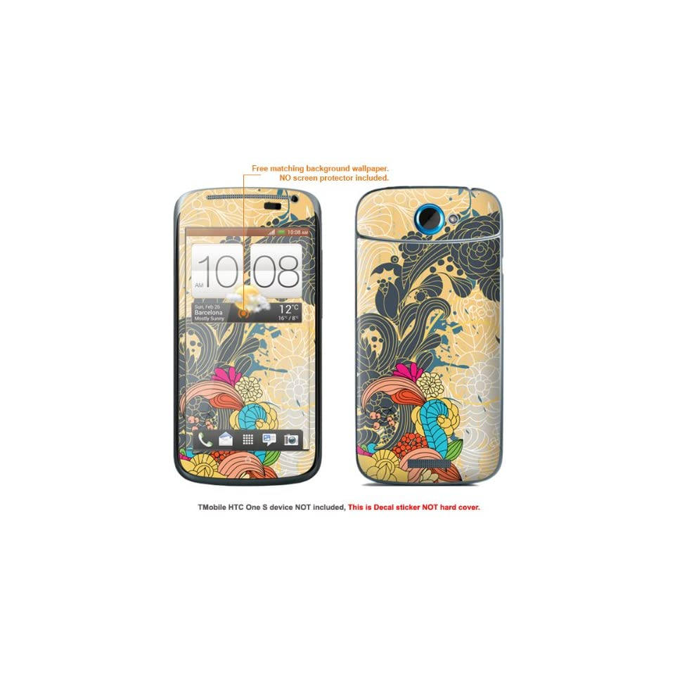 """Protective Decal Skin Sticker for T Mobile HTC ONE S """" T Mobile version"""" case cover TM_OneS 87 Cell Phones & Accessories"""