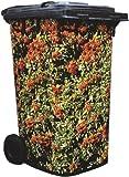 Brilliant Wheelie Bin Cover Camouflage Sticker in Attractive Pyracantha in Fruit Design