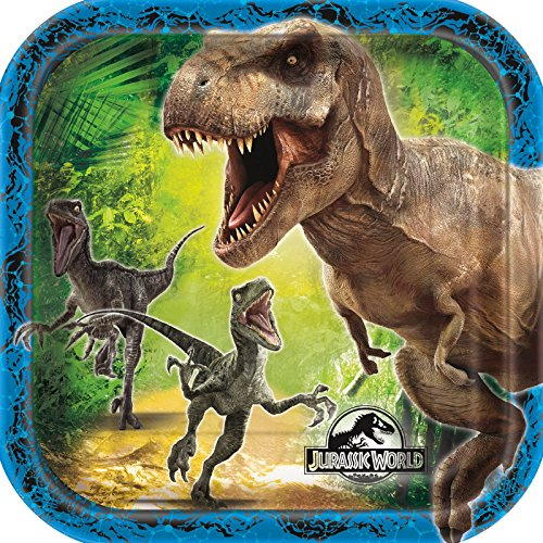 Review Square Jurassic World Dessert Plates, 8ct