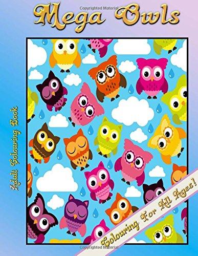 Adult Colouring Book - Mega Owls