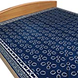Block Printed Cotton Bed Sheet in Blue Color from Indiaby DakshCraft