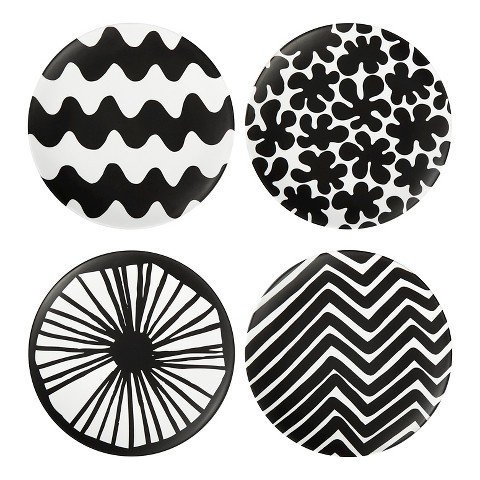 marimekko-for-target-salad-plates-4ct-black-by-marimekko