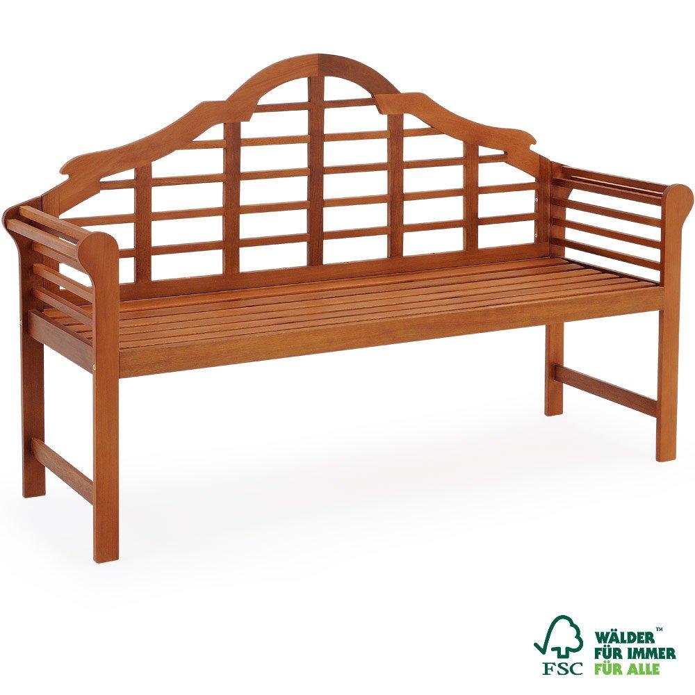 Gartenbank 2 Sitzer aus Eukalyptusholz - Holzbank Sitzbank Parkbank