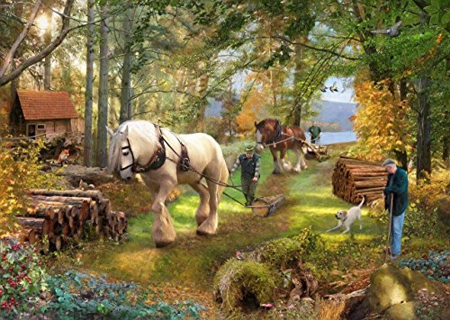 "The House of Puzzles ""Horse Power"" 500 Piece Jigsaw Puzzle - 1"