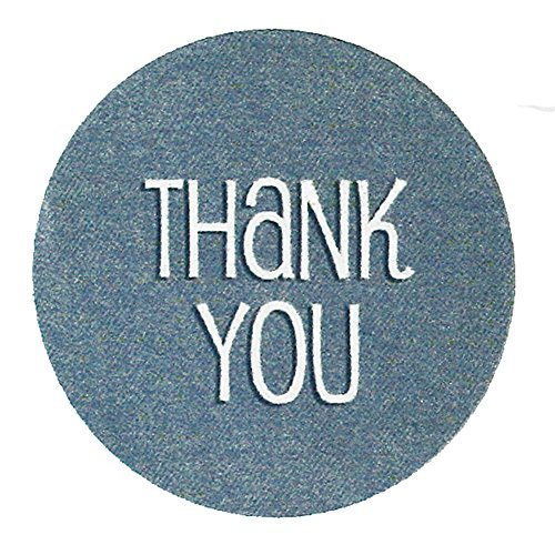 252 Blue Denim Thank You Stickers, 1 Inch, High Gloss Labels For Envelopes, Parties And Baby Shower Favors front-647608