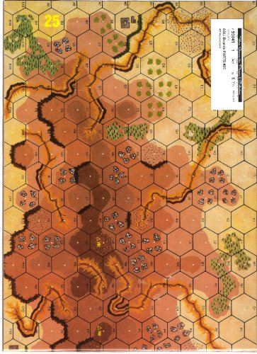 AH: ASL Advanced Squad Leader Mounted Mapboard #25 - 1