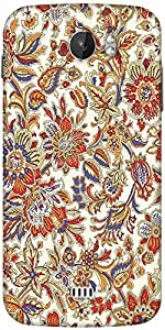 Snoogg Floral Pattern Cream Designer Protective Back Case Cover For Micromax A110