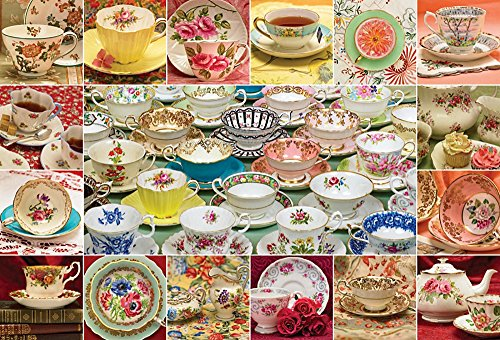 Cobble Hill Teacup Collection Jigsaw Puzzle, 2000-Piece