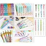 Jollin 12 Cute Korean Kawaii Mechanical Pencils With Erasers And Leading Refills Style Mixed (Color: style mixed)