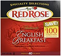 Red Rose Authentic English Breakfast Tea Bags 40 ct