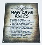 Man Cave Rules Top 10 Gameroom Bar Pub Novelty Tin Sign