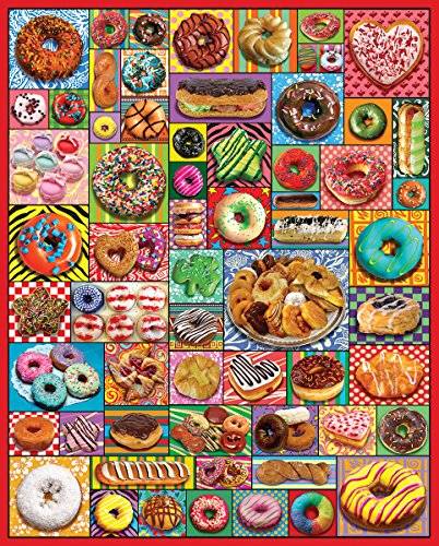 White Mountain Puzzles Donuts And Pastries Jigsaw Puzzle (1000 Piece)