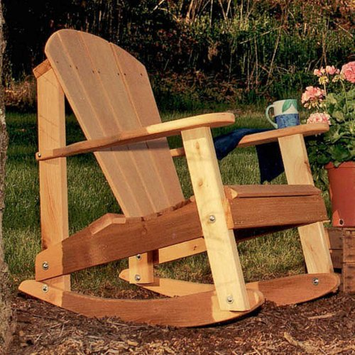 Cedar Furniture and Accessories Adirondack Rocking Chair Finish: No Finish