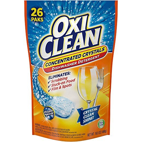 OxiClean Fresh Clean Dishwasher Detergent Paks, 26 count, 16.5 oz (Oxiclean Dishes compare prices)