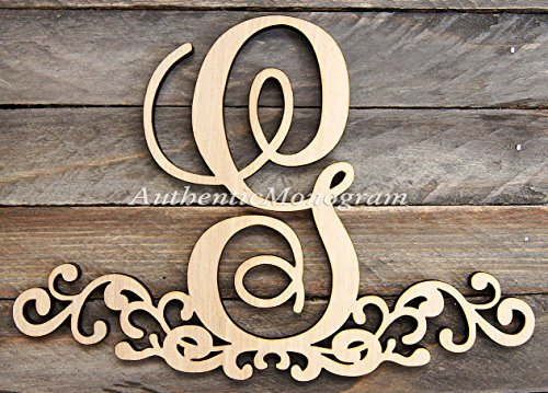 "Wooden Decorated Single Letter Painted Monogram, Home Decor, Anniversary Decor, Initial Monogram, Door Hanger, Guarden (24"") front-864307"